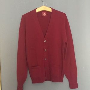 EUC Cardigan 💯 Lambswool burgundy By Nordstrom L
